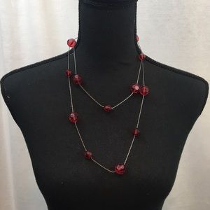 UEC red beaded necklace, by Express